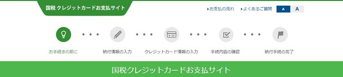 国税クレジットカードお支払サイト